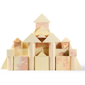 wood grain type eva foam building blocks