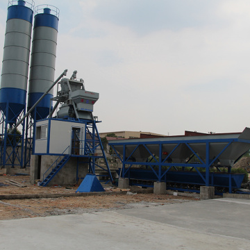 Hopper lift 75m3/h concrete batching plant Cambodia