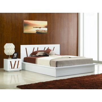 Good Quality for Panel Wood Bed Modern white high gloss finish bedroom furniture export to Italy Suppliers