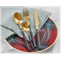 Quality Gold Stainless Steel Flatware Set