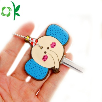 Cute Blue Elephant Silicone Key Cover for Gift/Car/Door