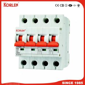 Miniature Circuit Breaker with Knb6-63 (GRB60) 6ka/10ka Sp Dp Tp Fp C6A,C63A,