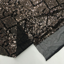 Geometry Two Tone Sequin Embroidery Fabric