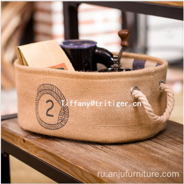 Handmade simple fashion 100% cotton jute storage box for home storage