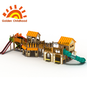 Yellow House Roof Combination Playground For Sale