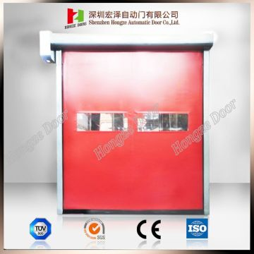 Self-repair Auto-Recovery PVC High Speed Zipper Rolling Door