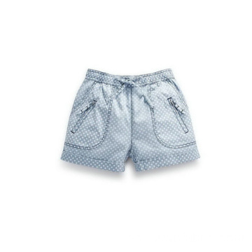 Lovely Polka Dot Children Cotton Shorts Denim Jeans