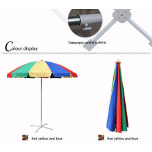 Personlized Products for Rainbow Multi Color Beach Umbrella 240CM 12K windproof Sunshade Balcony Beach Umbrella export to Grenada Exporter