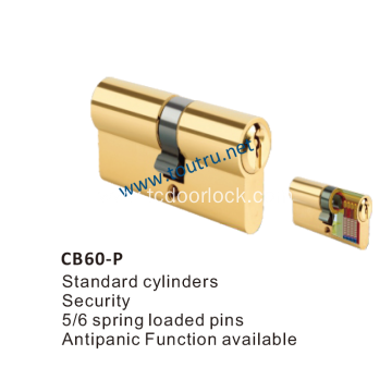 60mm brass double cylinder euro lock cylinder profile