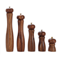 Handmade wooden salt and pepper mills