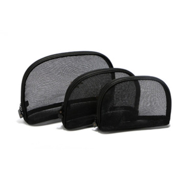 Beauty Cosmetic Makeup Bag Black Mesh 3 Sizes