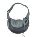 Black Large PVC and Mesh Pet Sling