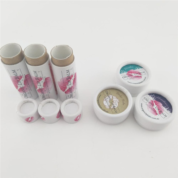 Round Lip Balm Paper Tube Packaging Gift Box