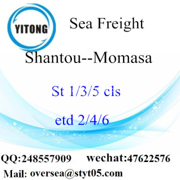 Shantou Port LCL Consolidation To Momasa