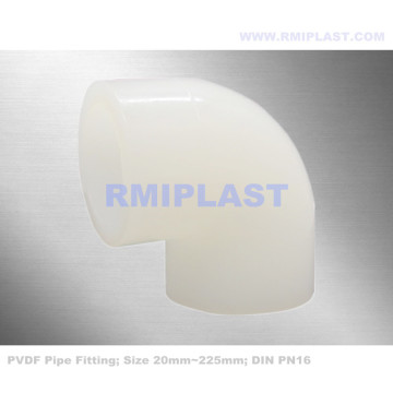PVDF 90 Degree Elbow PN16