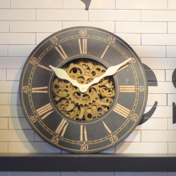 Wooden Wall Gear Clocks