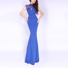 European and American new lapel pinball gown dress for the annual dinner party dress