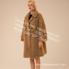Icelandic Lamb Fur Outward Coat In Winter For Women
