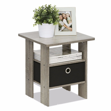 Simple stylish design oak 2 layers Bedside Table night stand for any room