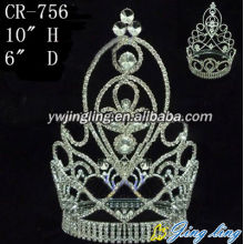 Customized for Beauty Pageant Crowns Full Round Pageant Crowns CR-756 supply to Benin Factory
