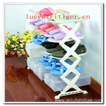 5 Tier Chrome Metal DIY Homemade Shoe Rack