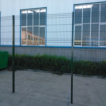 PVC welded wire mesh and galvanized garden fence