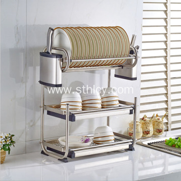 Stainless Steel Dish Drain Rack Multi-Function Kitchen Rack