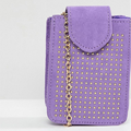 Purple rivet decorative chain bag mobile phone bag