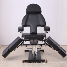 Multifunctional black color tattoo chairs/tattoo beds