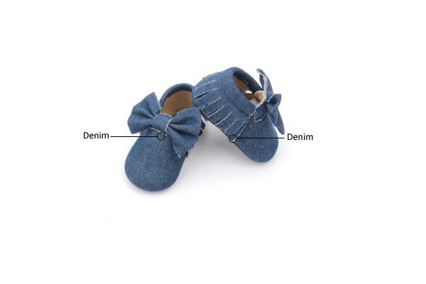 Varied Denim Moccasins