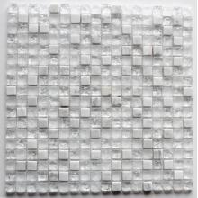Customized for Glass Mix Stone Mosaic Classic White Cracked Glass Mosaic export to Guinea Importers
