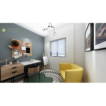 Home Office Studio Room Desk con sedia