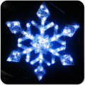 Led window hanging snowflake lights