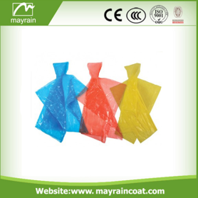 Disposable  Rain Poncho with PE Bag