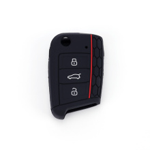 3 Buttons Remote Silicone Car Fob Key Case