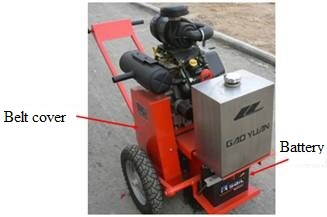 Hand push pavement grooving machine