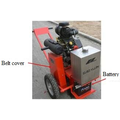 Asphalt concrete pavement slotting machine