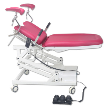 Medical electric portable gynecological exam chair