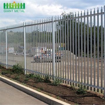 Cheap safety galvanized then welding steel palisade fencing