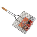 Non-stick coated mental wire grill basket for barbecue