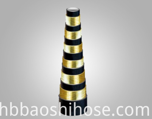 High Pressure Six Steel Wire Spiraled Reinforcements Rubber Hose