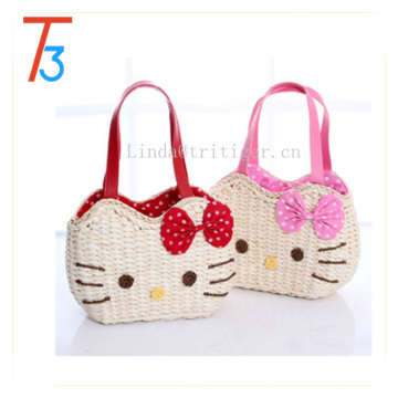 straw weave band bag