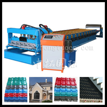 Automatic Hydralic Glazed Tile Roof Panel Making Machine