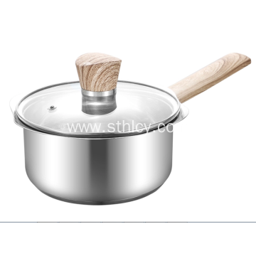 Stainless Steel Petal-Shaped Milk Pot Home Kitchen Pot