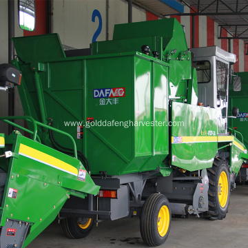 how does small farming machine harvester work