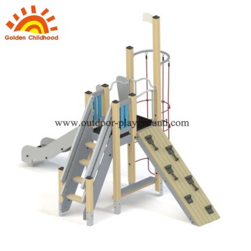 Hpl playground wooden slide climb panel