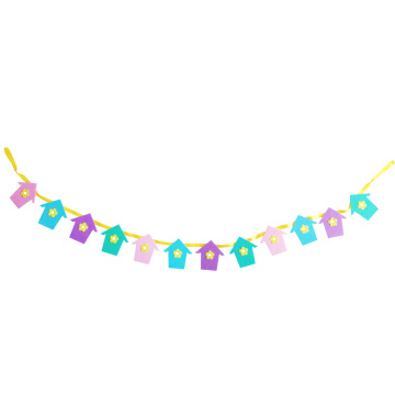 Easter bunting flag banner with house shape
