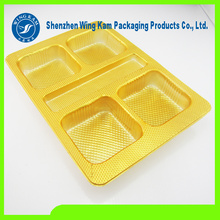 Plastic Mooncake Tray Golden Blister Packaging