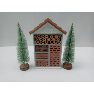 Outdoor Wooden Insect House Standing