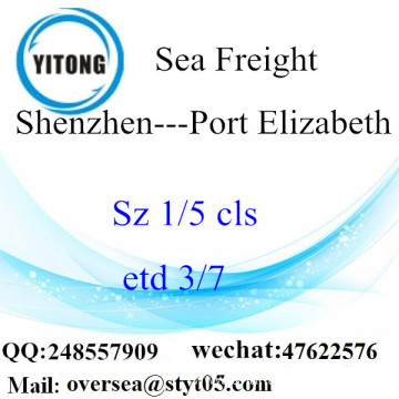 Shenzhen Port LCL Consolidation To Port Elizabeth